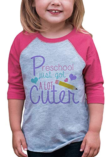 7 ate 9 Apparel Girls Preschool School Raglan Tee 5T Pink