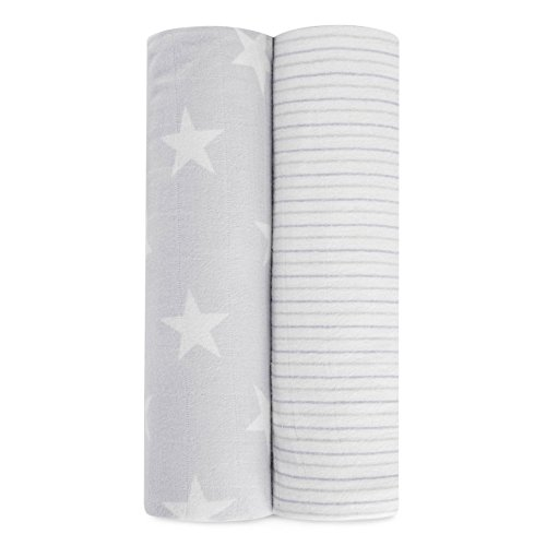 aden + anais cozy muslin swaddles 2 pack, fate