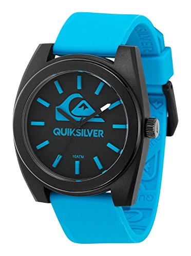 Quiksilver-Mens-QS1022BLBK-THE-BIG-WAVE-Blue-Silicone-Strap-Watch