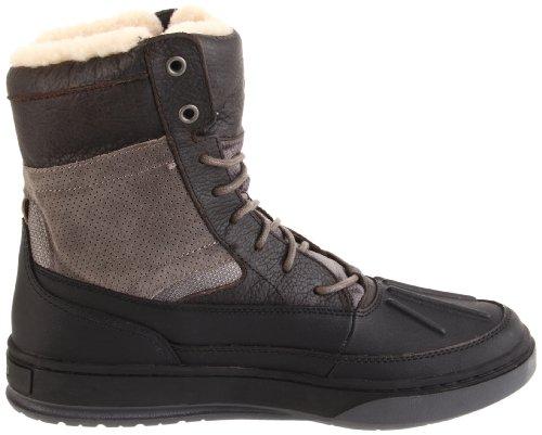Polo Ralph Lauren Mens Lansing Shearling Sneaker Carbone Di Legna