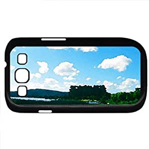 Far away World (Sky Series) Watercolor style - Case Cover For Samsung Galaxy S3 i9300 (Black)