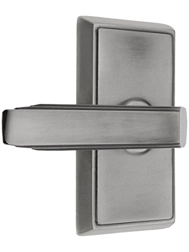(Providence Door Set with Milano Levers Left Hand Passage in Antique Pewter)