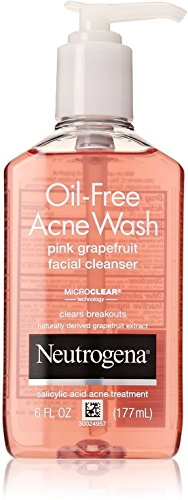 Neutrogena Oil-Free Acne Wash Face Cleanser, Pink Grapefruit 6 oz (8 Pack)