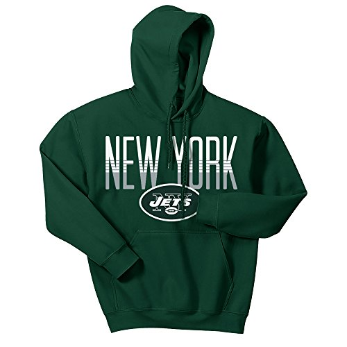 (Zubaz NFL New York Jets Men's Gradient Logo Hoodie, X-Large, Forest)
