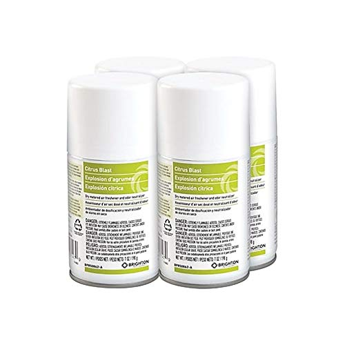Brighton Professional Aerosol Refill Metered Air Freshener, Citrus Blast, 7 Oz, 4/Ct (BPR50862-A) (Blast Air)