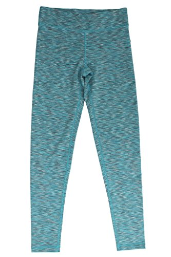 90 Degree by Reflex - Kids Space Dye Yoga Pants - Junior Leggings - Light Turquoise Space Dye Small (How Long Is A Light Year)
