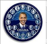 "Obama Democratic Integrity 44th President Photo Pin 3"""