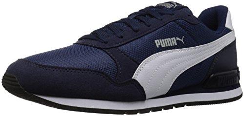 PUMA Unisex-Kids ST Runner V2 Mesh Sneaker, Peacoat White, 2 M US Little Kid by PUMA (Image #1)