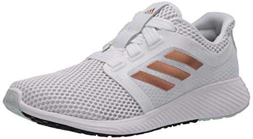 adidas Women's Edge Lux 3 Running Shoe, White/Copper Metallic/Dark Green, 5 M US