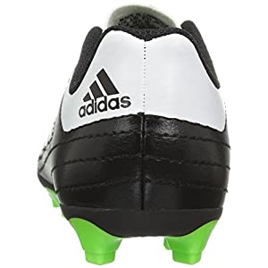 adidas Kids' Goletto VI J Firm Ground Soccer Cleats, Black/White/Sgreen, 13 Medium US Little Kid