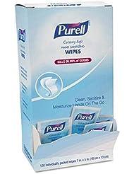 Purell GOJ902712BX Cottony Soft Hand Sanitizing Wipes, Self-Dispensing Display Box