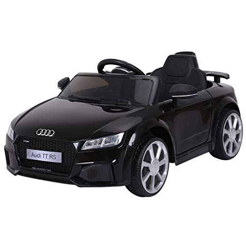 Aosom 6V Audi TT RS Kids Electric Sports Car Ride On Toy One Seat with Remote Control - Black