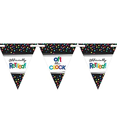 Retirement Party Pennant Banner Kit: Toys & Games