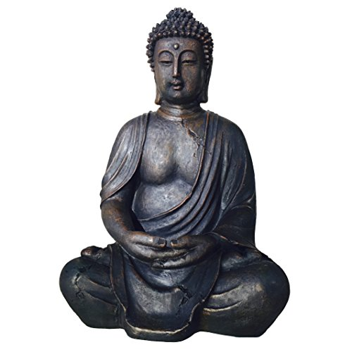 "WHW Whole House Worlds The Global Chic Buddha Statue, Seated in Dhyanasana, Approximately 1 Foot Tall, (11 3/4"" ? 30cm), Museum Quality Reproduction, from The Serenity Collection"