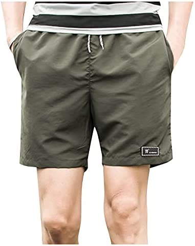 XVSSAA Mens Casual Shorts Elastic Waist 7″ Inseam with Drawstring Slim Fit Summer Pants with Pockets Outdoor Sports Pants