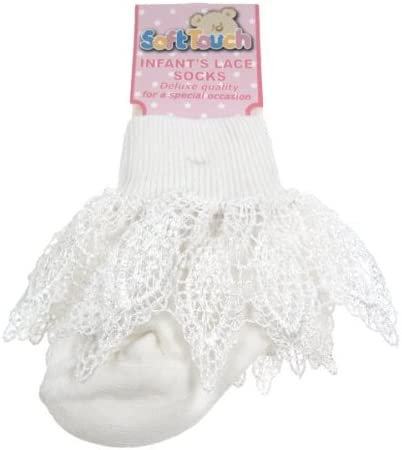 Beautiful luxury lace trim sock 12-18months