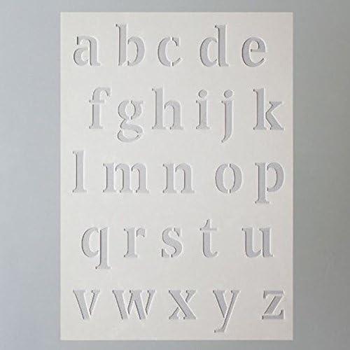 Plastic A 5 Transparent Efco Stencil Letters Small//26 Designs Din