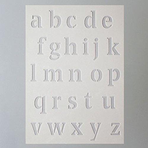 Efco Stencil Letters Small/26 Designs Din, Plastic, Transparent, A 5 9320726
