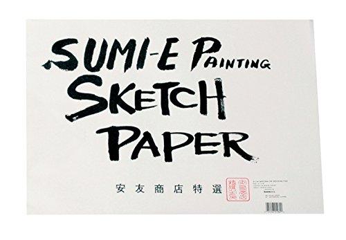 Chinese Woodblock Printing - Yasutomo Rice Paper Sketch Pad, 12-1/8 X 18-1/8 in, 48 Sheets - 244074