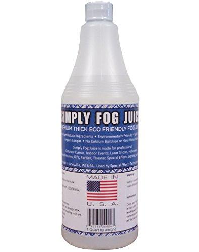 [1 Quart DJ Party Event Lighting Fog Juice for Fog Machines USA MADE - Premium Thick Fog Juice (Does not contain Propylene] (Party Fog Machine)