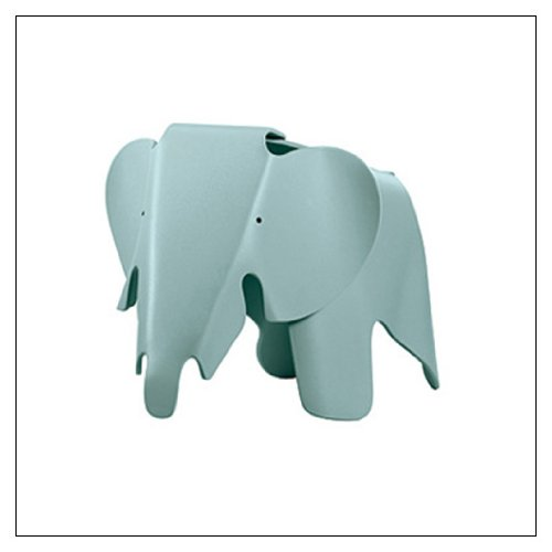 Eames Elephant by Vitra, Color = Ice Grey by Vitra
