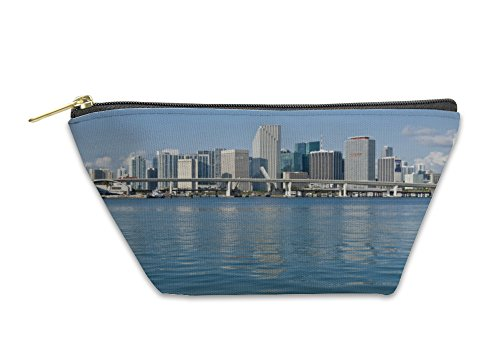 Gear New Accessory Zipper Pouch, Downtown Miami Skyline, Large, - Miami Stores Downtown
