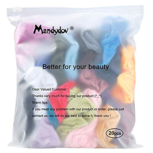 Mandydov 20 Pcs Hair Scrunchies Velvet Elastic Hair Bands Scrunchy Hair Ties Ropes Scrunchie for Women or Girls Hair Accessories - 20 Assorted Colors Scrunchies. by Mandydov (Image #7)