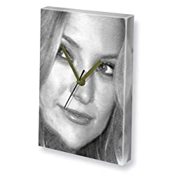 KATE HUDSON - Canvas Clock (A5 - Signed by the Artist) #js004