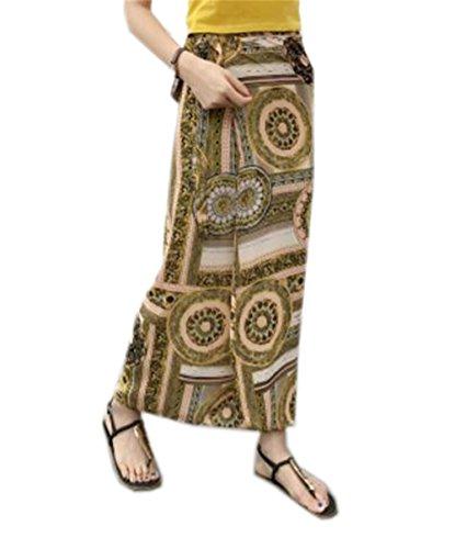 Aoliait Femme Jupe Mi Longue Vintage Jupe en t ElGant Jupe Mousseline Lacets Slim Fit Jupe De Plage Taille Haute Jupe Tendance Jupe Yellow5