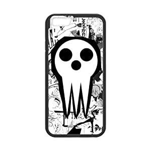 """ROBIN YAM Soul Eater Death the Kid iPhone 6 Case (4.7""""), Hard TPU Rubber Coated Phone Cases Cover -DRY488"""