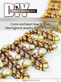 Herringbone Stitch Tutorials, Herringbone Beading Patterns, Beading Patterns, Patterns & Tutorials, DIY Jewelry Making Magazine #43