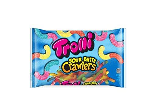 Trolli Sour Brite Crawlers Gummy Candy, 14 -