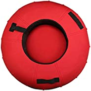 Snow Tube   Towable Heavy Duty Snow Tube with A Hard Plastic Bottom, with Handle Traction Rope Winter Entertai