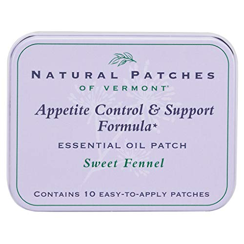 (Natural Patches of Vermont Appetite Suppressant Essential Oil Body Patches, Sweet Fennel, 10-Count Tin )