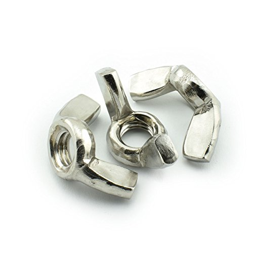 LQ Industrial 12pcs 304 Stainless Steel Wing Nuts Hand Twist Tighten Ear Wing Nut Threaded Thumb Butterfly Claw Nuts M10x1.5