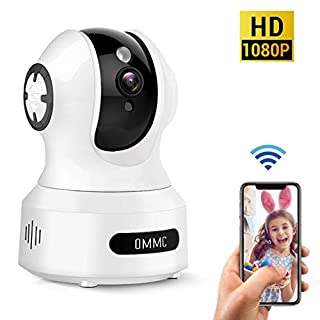 Baby Monitor, OMMC Wireless Home Security Camera 1080P IP Camera with Night Vision/2-Way Audio/Motion Detection, Works with Alexa