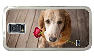 Hipster Samsung Galaxy S5 Cases cool Dog Rose Love PC Transparent for Samsung S5