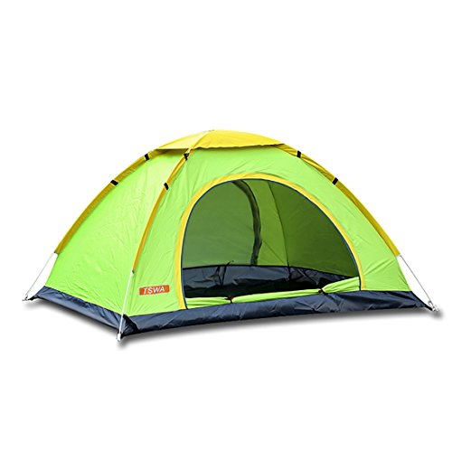Pop Up C&ing Tent by TSWA - Automatic u0026 Instant Setup Dome Waterproof Tents for Backpacking 3-4 Person Portable Pack for Hiking Shelters (Green)  sc 1 st  Amazon.com & Best Pop Up Tent: Amazon.com