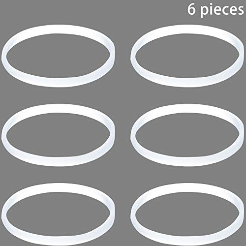 (6 Pieces Gasket Replacement for Nutri Ninja White Rubber Gasket Seal O-ring Gasket Replacement Part, 3.94 Inch in Diameter )