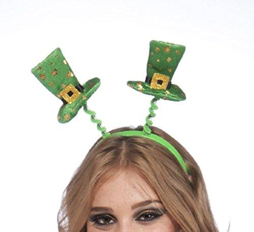 Circus Sweetie Mini Top Hat (St. Patricks Day Irish Headband Green Gold Top Mini Hat Adult Children Shamrock)