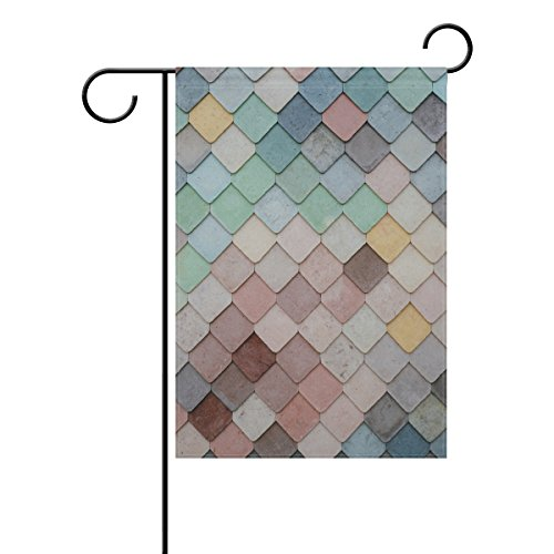 Jere Mermaid Wall Garden Flag Decorative Double-Sided Polyester 12x18 inch for Your Yard