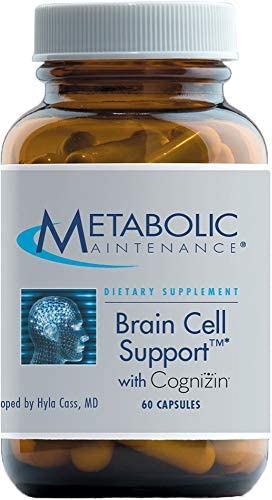 Metabolic Maintenance Brain Cell Support – Citicoline, DMAE, Phosphatidylserine Ginkgo to Support Mood, Memory Focus 60 Capsules