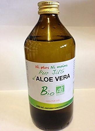 Pur zumo de Aloe Vera Bio bote de 500 ml: Amazon.es: Salud y ...