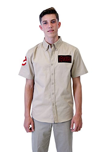 Ghostbusters Venkman Button Up Costume Shirt (Large)]()