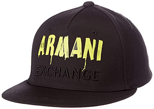 A|X Armani Exchange Women's Logo Hat, Black, One Size