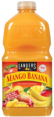 Langers Juice, Mango Banana Nectar, 64 Ounce (Pack of 8)