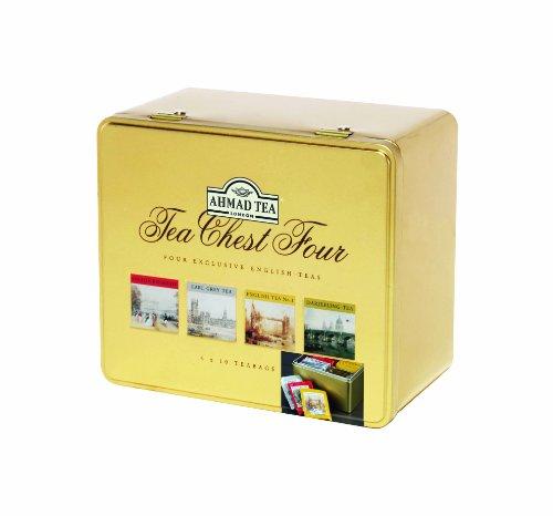 Ahmad Tea Chest Four Variety Tin, 40 Count