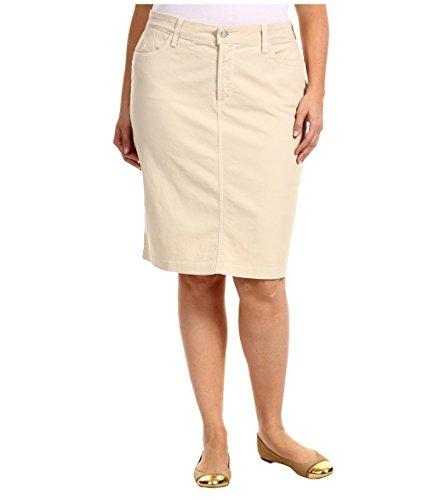 Jack David Sexy Womens Plus Size Stretch Denim Jeans Casual Twill Cotton Skirt Modern Series (2X, Khaki Twill Cotton Skirt)