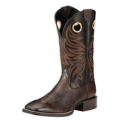 ARIAT Men's Sport Rider Wide Square Toe Western Boot Chocolate Size 8 D/Medium Us