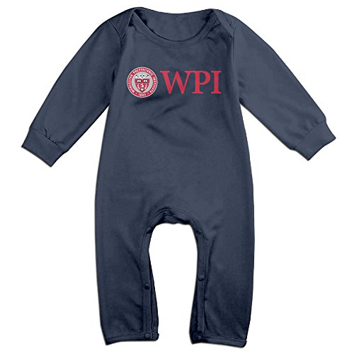 HOHOE Babys Worcester Polytechnic Institute Long Sleeve Jumpsuit Outfits 12 Months (Halloween In Worcester)